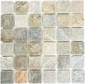 Natuursteen Mozaiek Beige/Grijs - 30.5 x 32.5 cm