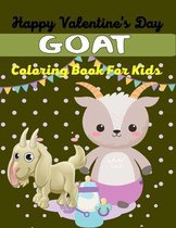Happy Valentine's Day GOAT Coloring Book For Kids