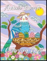 Adult Birds Coloring Book