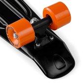 Skateboard Retro 57cm - zwart - oranje - tot 100 kg belastbaar