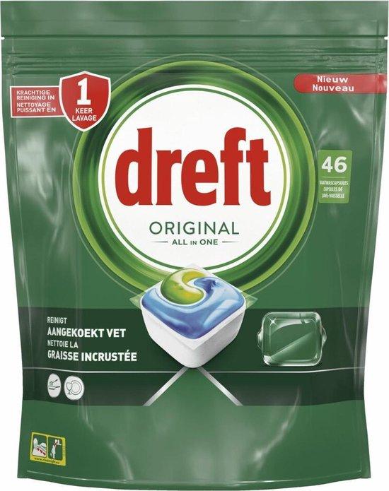 Dreft Original All In One Regular - Voordeelverpakking 4x46 stuks - Vaatwastabletten