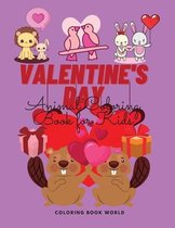 Valentine's Day Animal Coloring Book for Kids