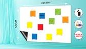 Magnetisch Whiteboard (120x225 cm) Folie Zelklevend met wisser - magneten en marker