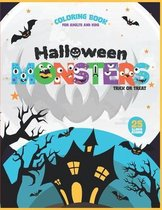 Halloween Monsters Coloring Book for adults and kids