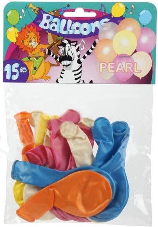 Tom Ballonnenset Pearl 20 Cm Latex 15-delig