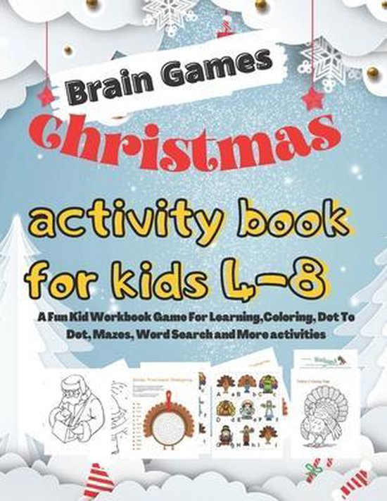 Brain Games Christmas activity book for kids 4-8