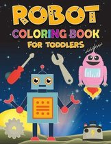 Robot coloring book for toddlers