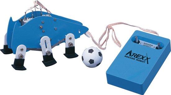 Afbeelding van het spel SR-129  -  AREXX SOCCER ROBOT BOUWPAKKET COOL BOUWPAKKET KERST, SINTERKLAAS, HOBBY EN SCHOOL| licht snoeren | PIE | STEAM | STEM | Batterij powered | Party player |VOETBAL ROBOT |