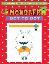 coloring activity book for kids monster dot to dot