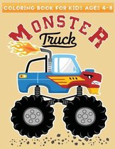 coloring book for kids ages 4-8 monster truck
