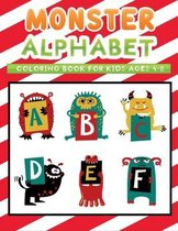 monster alphabet coloring book for kids ages 4-8