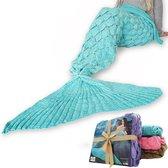 MikaMax - Zeemeermin Deken - Mermaid Blanket Aqua - 1.95m