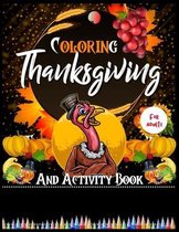 Coloring Thanksgiving And Activity Book For Adults