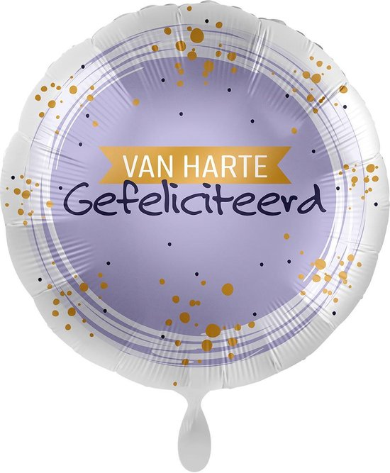 Everloon - Folieballon - Van Harte Gefeliciteerd - 43cm