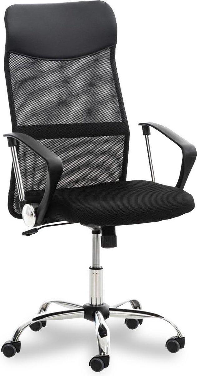 Ocazi Ergonomische Bureaustoel - Bureaustoel Voor Volwassenen - Hoogte Verstelbaar - Zwart