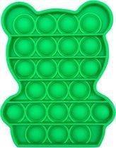FIDGET TOY POP IT - ORIGINELE Fidget toys - Groen - Fidget speelgoed - Stress speelgoed - Beertje - Berenvorm - Stress verlagend - Fidget toys POP IT Tiktok - Bubble pop - Anti stress - Beste kwaliteit - Pop it toy