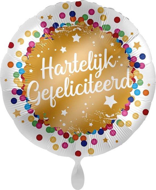 Everloon - Folieballon - Hartelijk Gefeliciteerd - 43cm