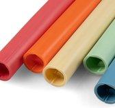 """ClickStraw - BPA VRIJ - """"smoothie-size""""- Herbruikbaar Rietje - Siliconen Vrij - 100% TPE-S Recyclebaar - Set van 5 Stuks - Mix"""