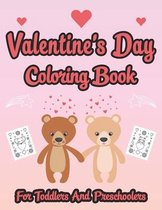 Valentine's day coloring book for toddlers and preschoolers