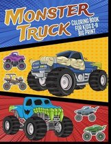 Monster Truck Coloring Book For Kids 2-9 Big Print