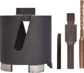 Perfectmate EPD0631 Dozenboor Diamant - 82 x 70mm - M16 - incl. adapters en centreerboor