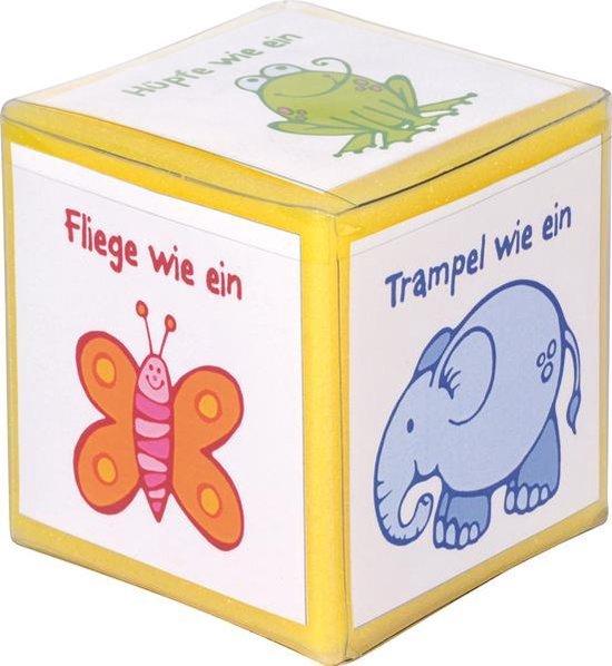 Afbeelding van het spel Dobbelsteen met vakken klein 8 cm set van 5 stuks
