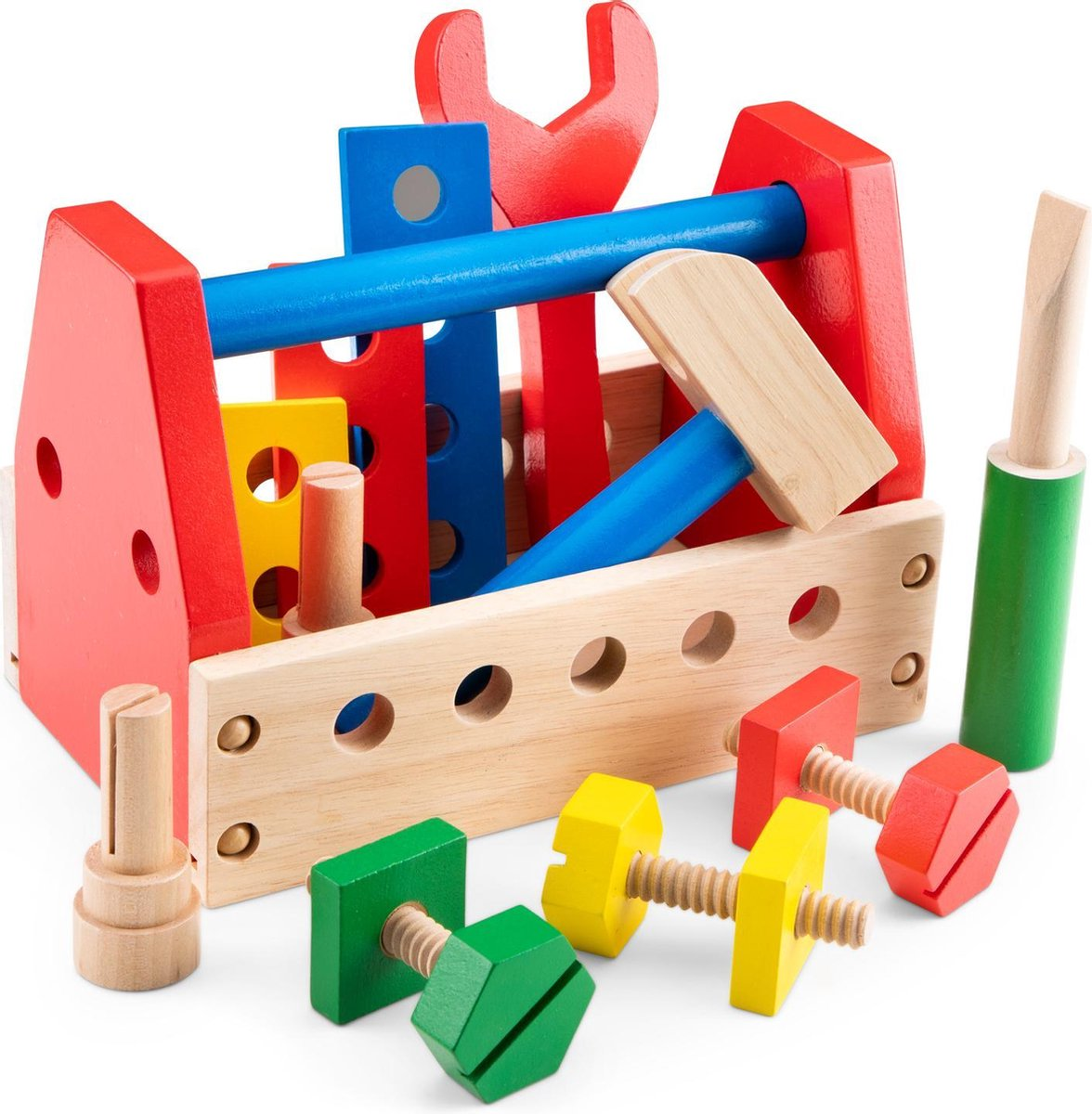New Classic Toys Houten Gereedschapskist - 15 onderdelen