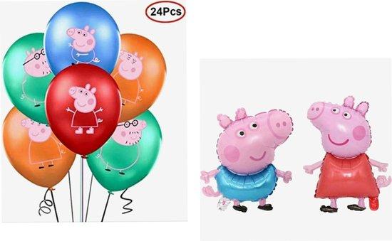 PEPPA-GEORGE-FOLIE -BALLON - PEPPA-PIG-LATEX-BALLONNEN 26 DELIG