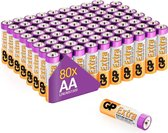 GP Extra Alkaline batterijen AA mignon penlite LR06 batterij 1.5V - 80 stuks - AA batterij
