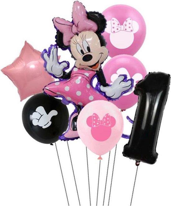7 stuks ballonnen Minnie Mouse thema - verjaardag - 1 jaar
