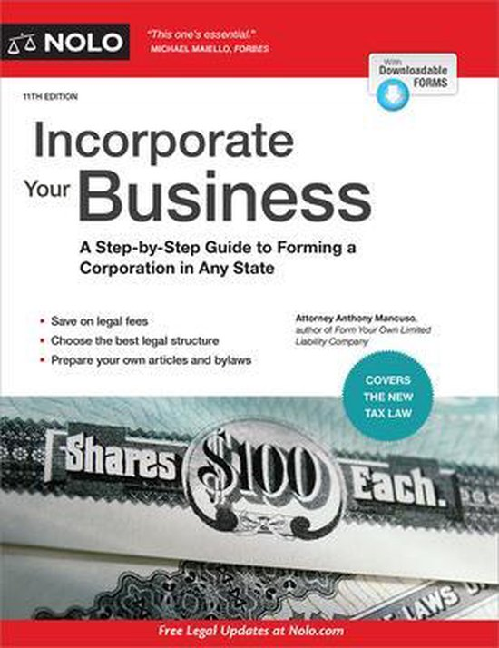 Boek cover Incorporate Your Business van Anthony Mancuso, Attorney (Paperback)