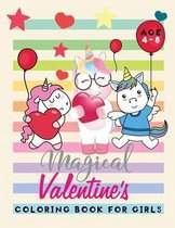 magical valentine's coloring book for girls