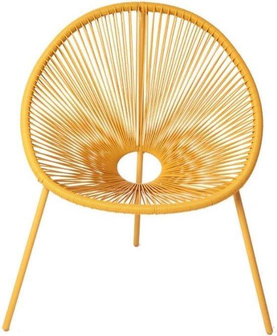 Tuinstoel Vita Barros draad - geel