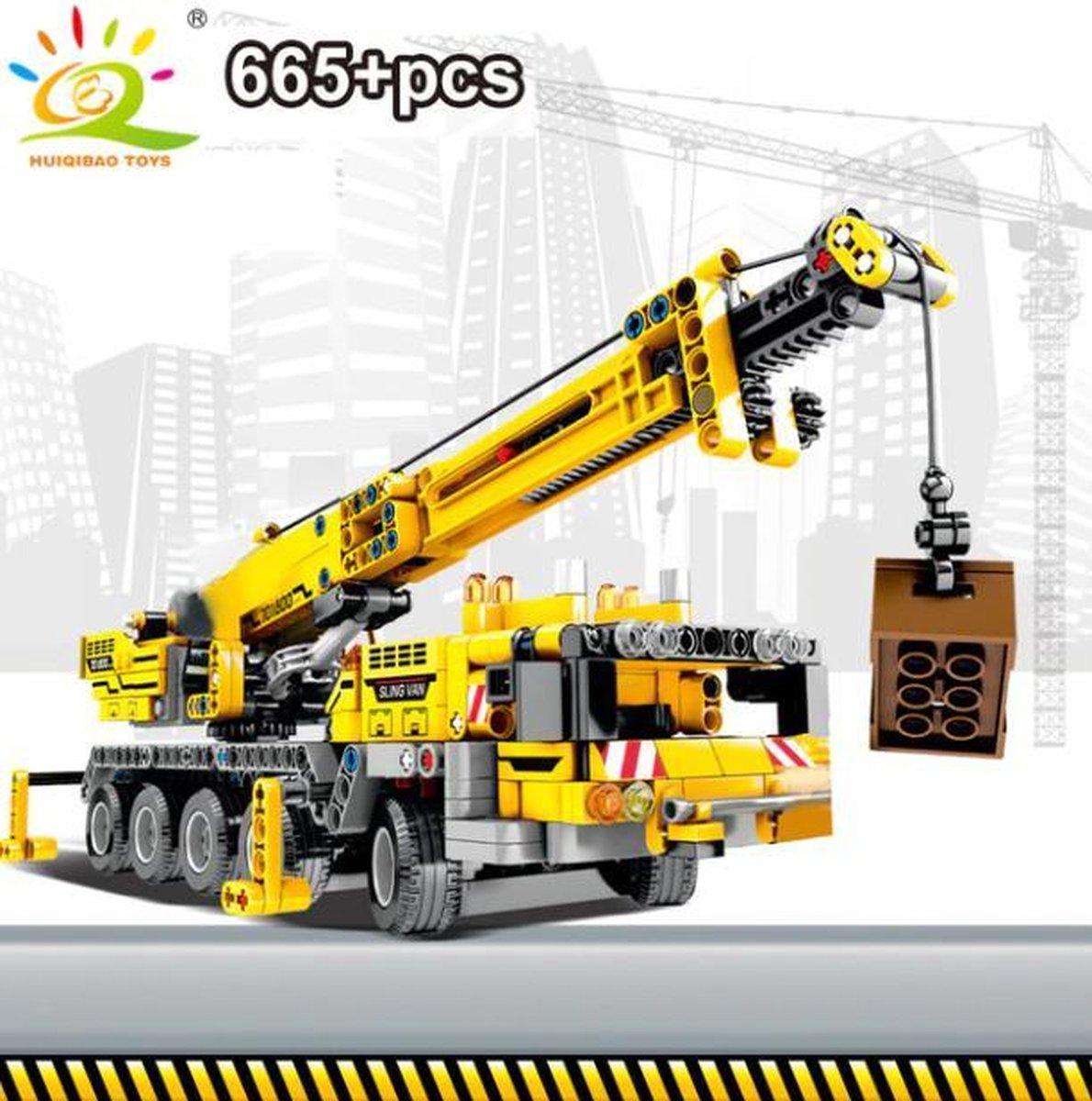 Technisch Lego - Technic - geschikt voor LEGO - Bouwplaats - Kraan