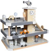 Tryco - Houten Speelgoed Auto Parkeergarage - Inclusief auto's