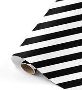 Cadeaupapier kaftpapier Bold Lines zwart/wit 70x200 cm