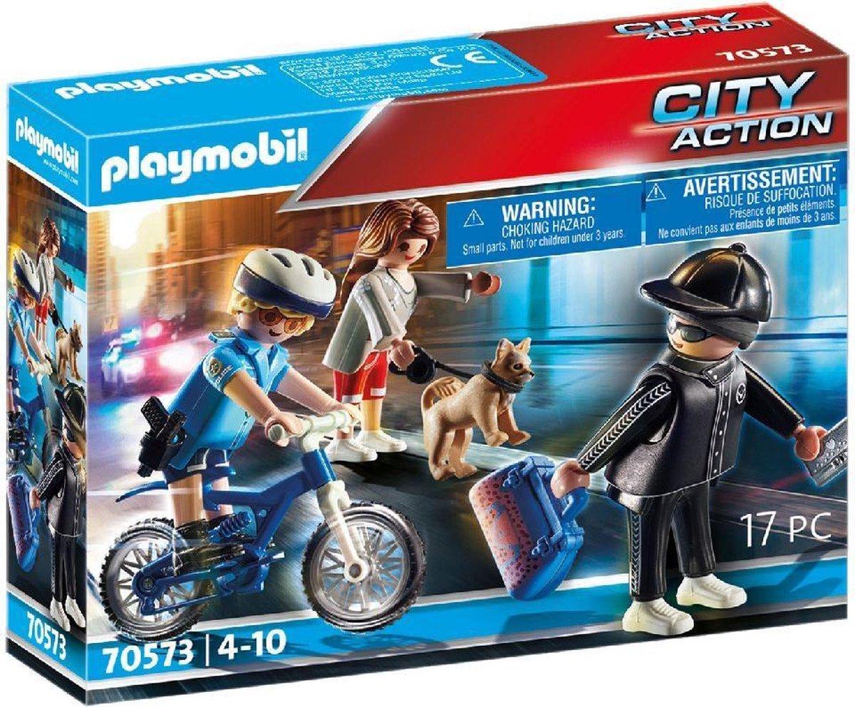 PLAYMOBIL City Action Politiefiets: achtervolging van de zakkenroller - 70573