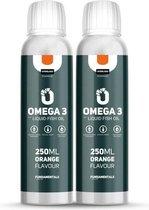 Fundamentals Vloeibare Visolie Omega 3 - Orange - 2x 250 ML - Hoge EPA - Hoge DHA