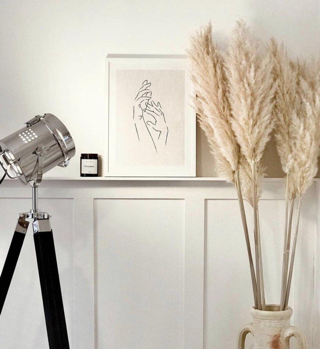 Luxe Extra Fluffy Pampas pluimen - Cortederia - Beige - 120 CM - Professioneel gekweekt - 6 stuks -