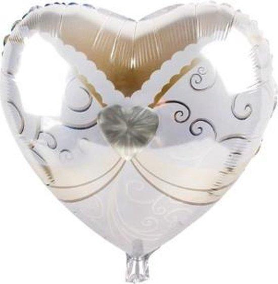 Bruid trouwballon - 45x45cm - Trouw versiering - Folie ballon - Helium ballon - Trouwfeest - Trouwen - Versiering - Trouw jubileum - Feest versiering  - Hart - Bruiloft - Bruid ballon - Ballonnen - Mr& Mrs - Valentijn  – Decoratie – Aanzoek