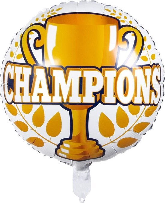 Boland Folieballon Champions 45 Cm Wit/geel/blauw