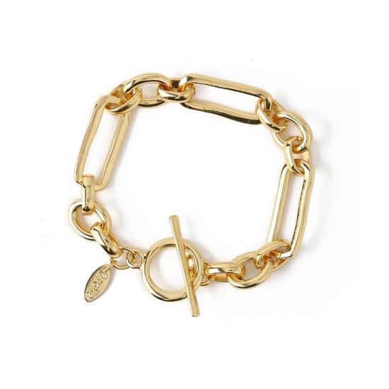 Orelia armband met lange ovale schakels - goudkleurig