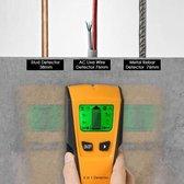 Multifunctionele elektrische materiaal detector - LCD-display - Geel