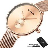 CRRJU® Horloges voor Vrouwen Dameshorloge Meisjes Dames Watch Horloge – Horlogebox Geschenkdoos – Rosé Goud