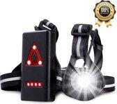 Hardloop Verlichting – Hardloopvest met Verlichting – Hardloop Lampjes – Hardlooplicht – Borstlamp – Veilig - Waterdicht – USB oplaadbaar