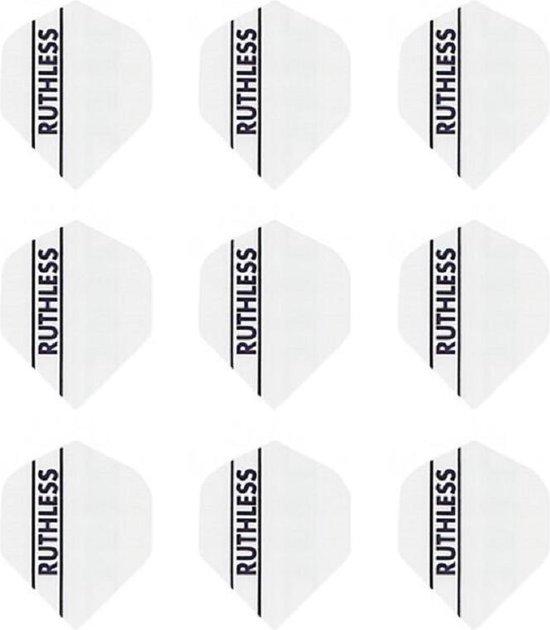 Afbeelding van het spel 10 sets (30 stuks) Ruthless  flights Multipack - Solid White - darts flights