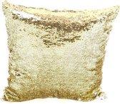 Kussenhoes Reversible Paillette Goud / Zilver 50x50 cm
