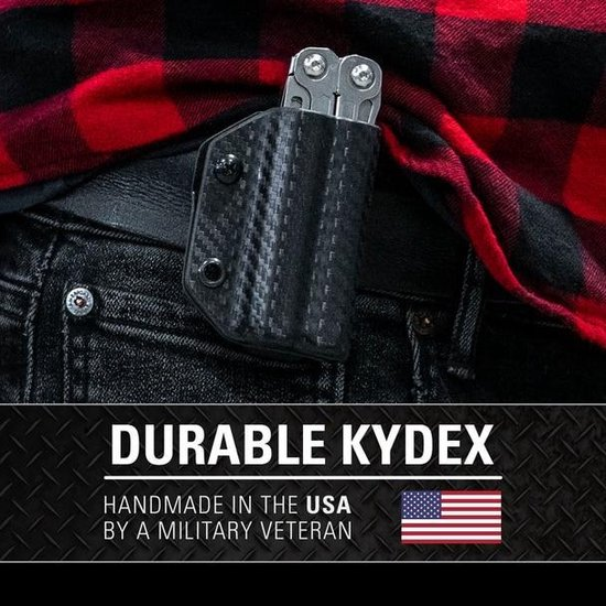 Kydex - Leatherman Wingman / Sidekick / Rev - Multtool Sheath - Zwart
