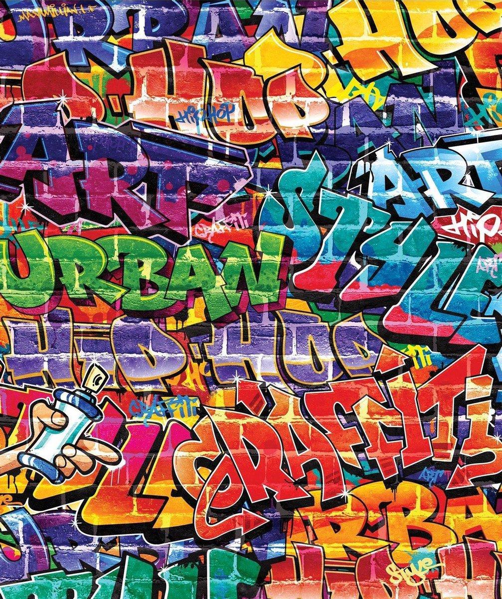 Walltastic behang Graffiti - fotobehang - 200 x 244 cm - walltastic