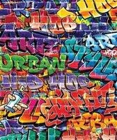 Walltastic behang Graffiti - fotobehang - 200 x 244 cm - Multi